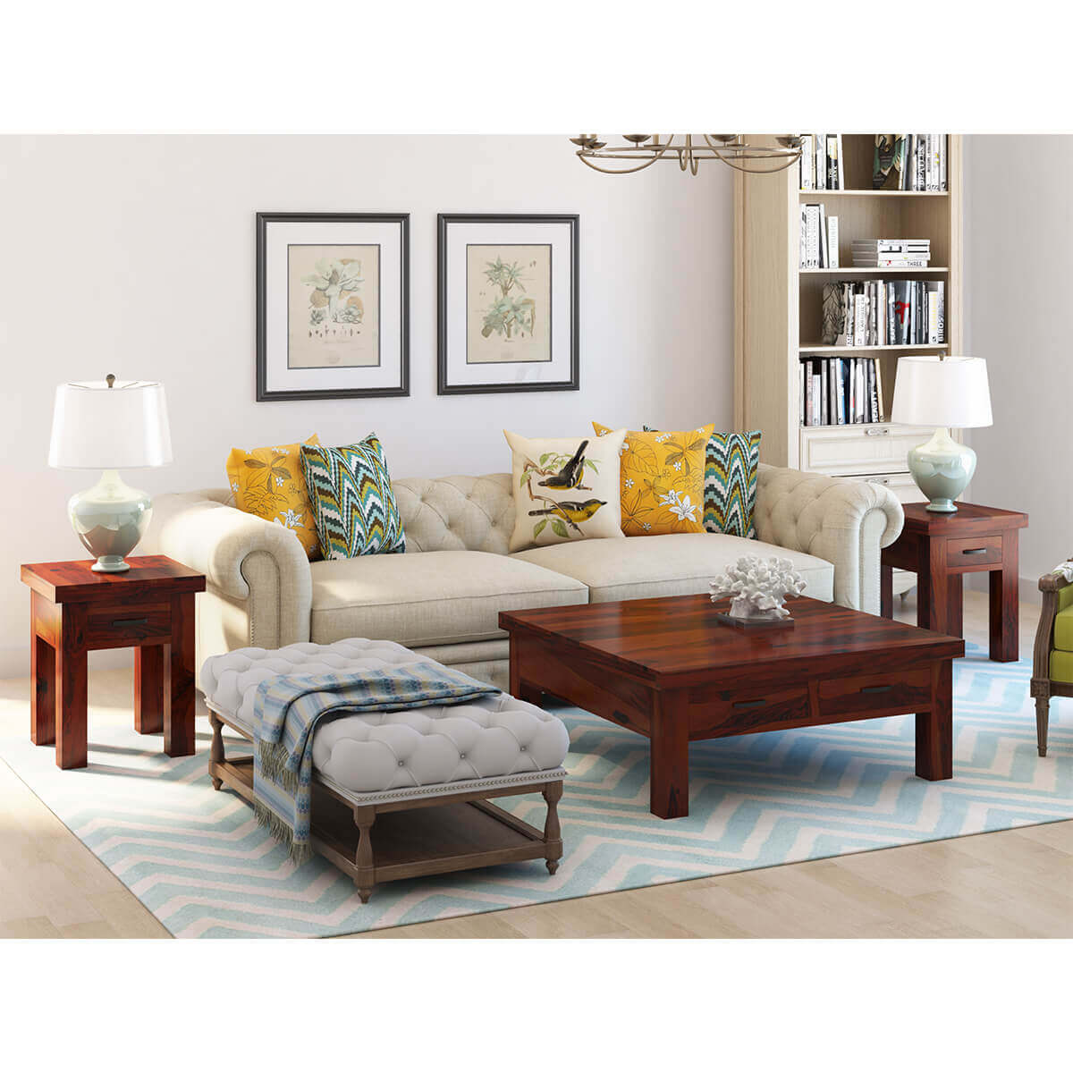 Modern Coffee Table With Storage Modern 3 Piece Solid Wood Coffee Table Set With Storage