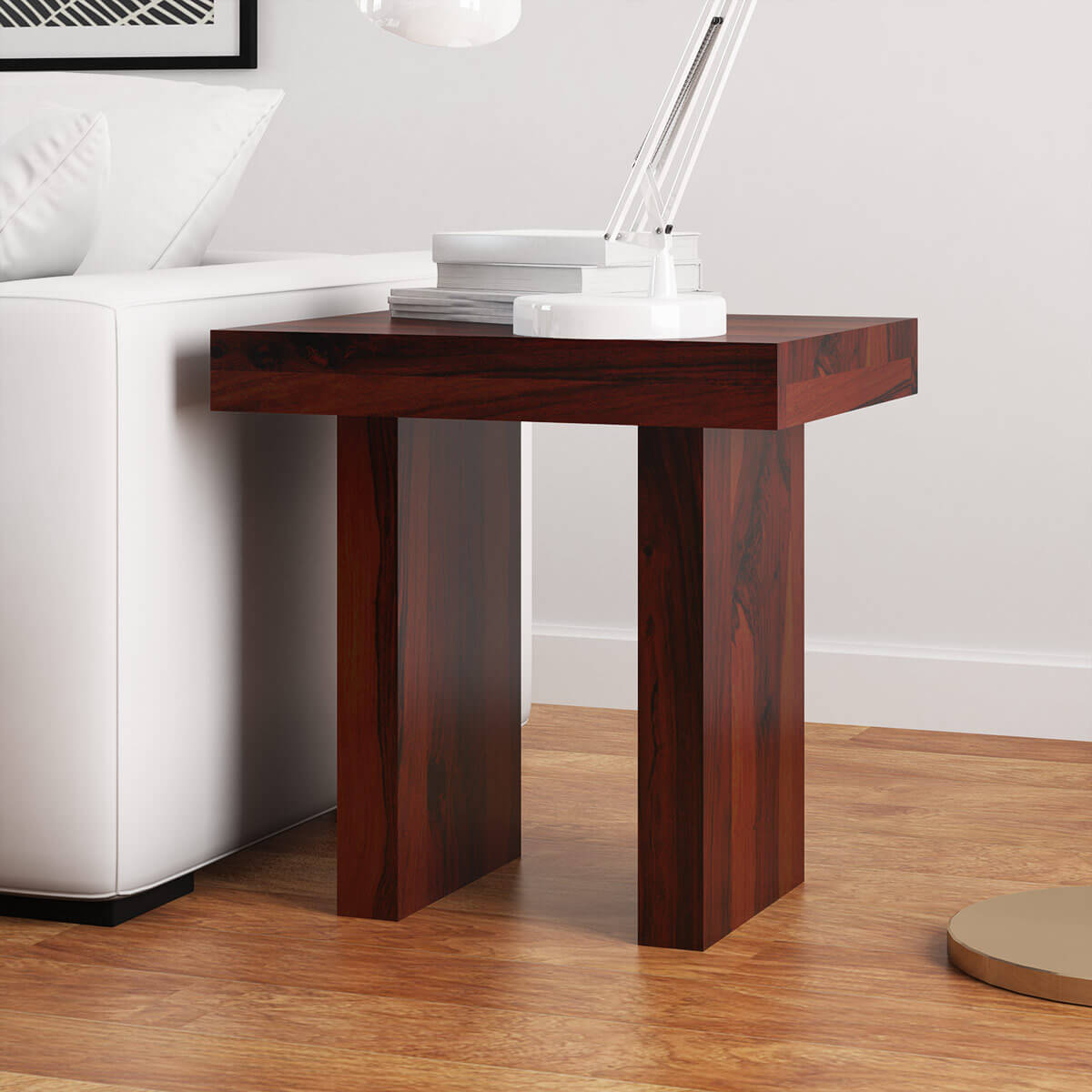 Rustic Wood End Table Jayton Contemporary Rustic Solid Wood End Table