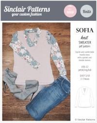 Sofia shawl collar classic sweater (PDF)  Sinclair patterns