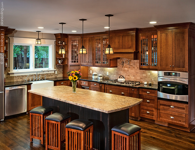 Santa Barbara Craftsman Kitchens - Hahka Kitchens Goleta