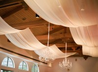 drape fabric from ceiling bedroom
