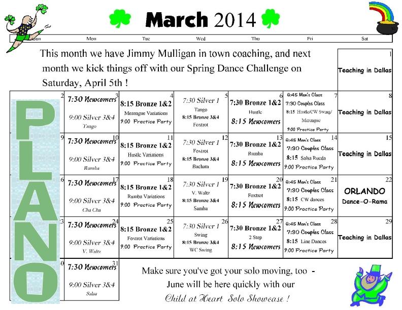 Dance Classes Plano, TX \u2013 Ballroom Dancing Classes, Dance Lessons In - Calendar Class