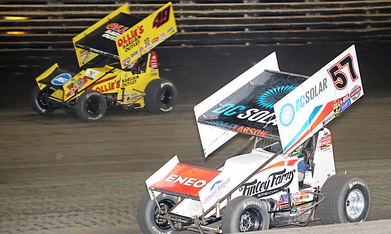 Kyle Larson Brad Sweet Knoxville Nationals SPEED SPORT