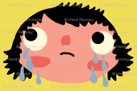 cry baby wallpaper - heidikenney - Spoonflower
