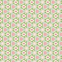 Cream Pyramid Floral - Victorian Rose fabric - inscribed ...