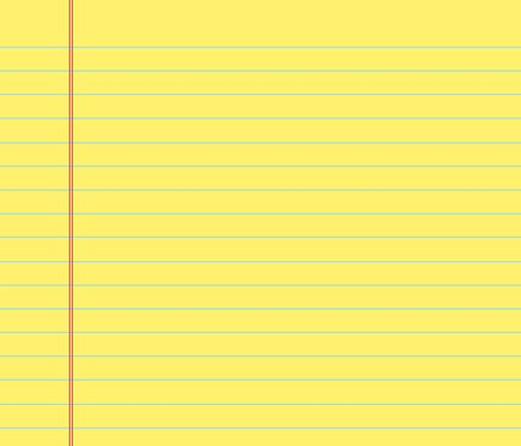 yellow lined paper template - blank lined page