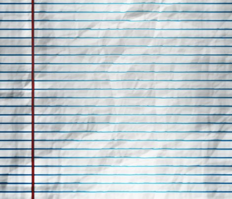 Wet Lined Paper Border fabric - animotaxis - Spoonflower - line paper