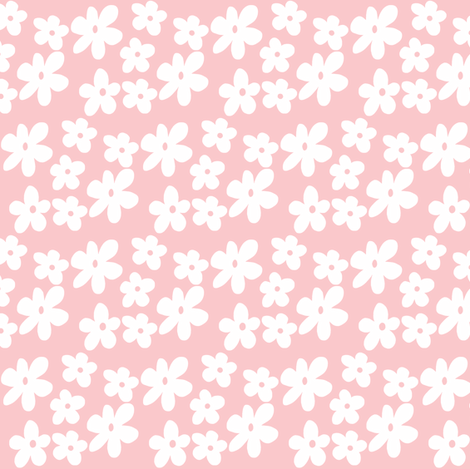 Pale Pink Wallpaper For Girl Nursery Baby Pink Flowers Fabric Toni Elaine Spoonflower