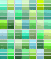 Pics For > Teal Green Color Chart