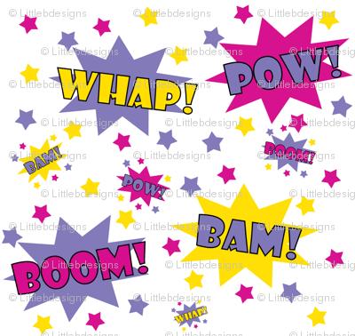 Cute Cupcake Wallpaper Girl Superhero Pow Fabric Littlebdesigns Spoonflower