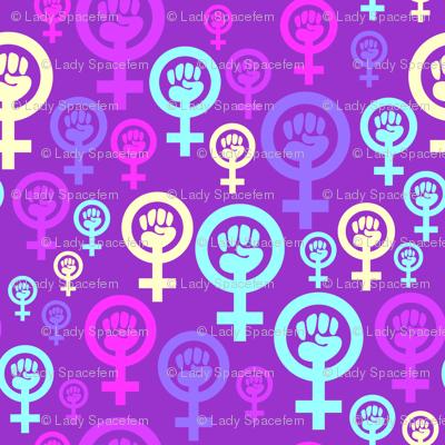 Pastel Goth Girl Wallpaper Feminist Symbol In Purple Fabric Spacefem Spoonflower
