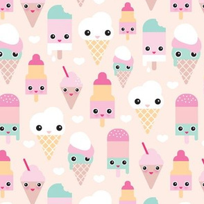 Cute Pineapple Big Wallpapers Ice Cream Fabric Wallpaper Amp Gift Wrap Spoonflower