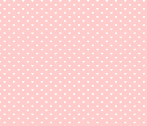 Cute Wallpapers Of Piglet And A Bunny Light Pink Polka Dot Hearts Fabric Sweetzoeshop