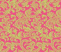 Damask Scroll Preppy Pink wallpaper - littlerhodydesign ...