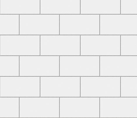 3d White Brick Wallpaper Subway Tile White Fabric Glimmericks Spoonflower