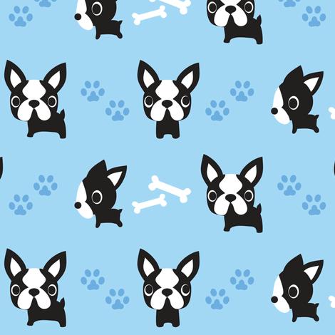 Iphone 6s Wallpaper Fall Cute French Bulldogs Blue Fabric Boredinc Spoonflower