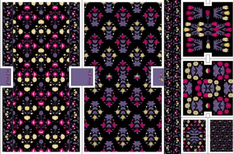 Carpet Flowers Bag Kit Fabric Pond Ripple Spoonflower