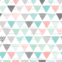 Geometric tribal aztec triangle pastel pink and blue ...
