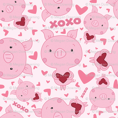 Pato Gravity Falls Wallpaper Valentine Piggy Wallpaper Pigandpumpkin Spoonflower