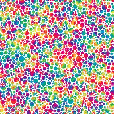 Cute Circle Wallpaper Crazy Rainbow Dots Wallpaper Weavingmajor Spoonflower