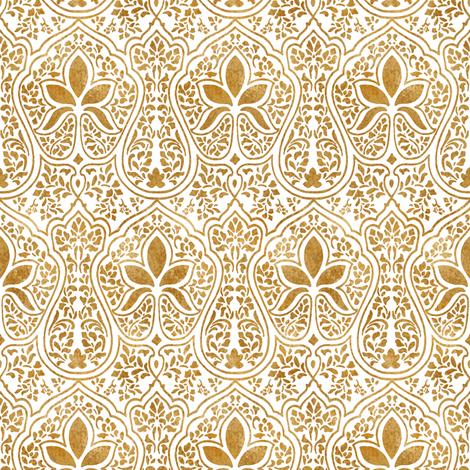 Fall Border Wallpaper For Desktop Rajkumari White And Gilt Gold Batik Giftwrap