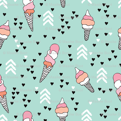 Fall Color Wallpaper For Desktop Cute Geometric Pastel Ice Cream Popsicle Cream Candy