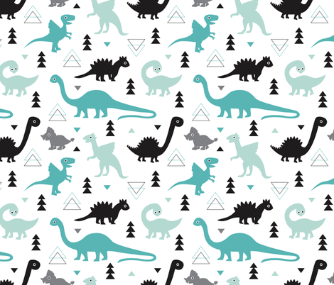 Cute Dog Wallpaper Backgrounds Adorable Dino Boys Fabric With Black And Blue Dinosaur