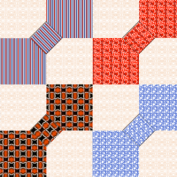 Bowtie Quilt 1 fabric - eclectic_house - Spoonflower