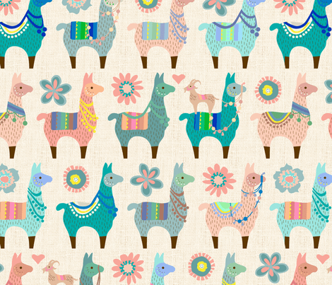 Cute Duck Hd Wallpaper Llama Fun Fabric Mariafaithgarcia Spoonflower