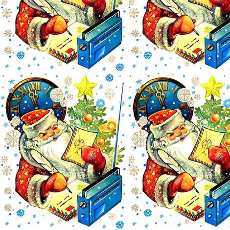 Merry Christmas Santa Claus clocks snowflakes stars trees baubles - Santa Envelopes