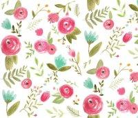 Happy Floral fabric - pacemadedesigns - Spoonflower
