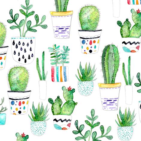 Cute Llama Wallpaper Desktop Watercolour Succulents Cactus Fabric Emeryallardsmith
