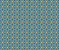Scraffito tile teal and yellow wallpaper - linzwins ...