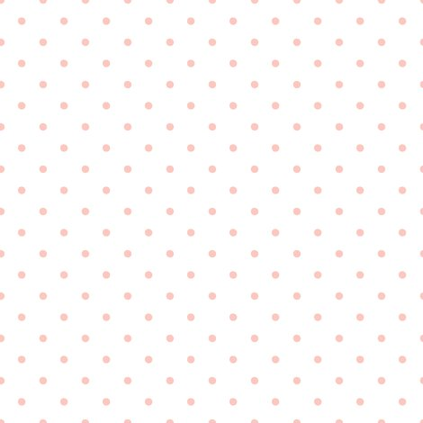 Pink Polka Dots on White Background fabric - shopcabin - Spoonflower