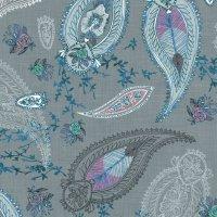 Boho Paisley (teal) wallpaper - nouveau_bohemian - Spoonflower
