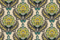 Cream Teal and Yellow Ikat_Miss Chiff Designs wallpaper ...