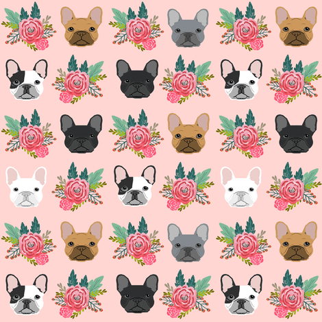Fall Flowers Desktop Wallpaper French Bulldog Flowers Florals Frenchies Dog Girls Flowers