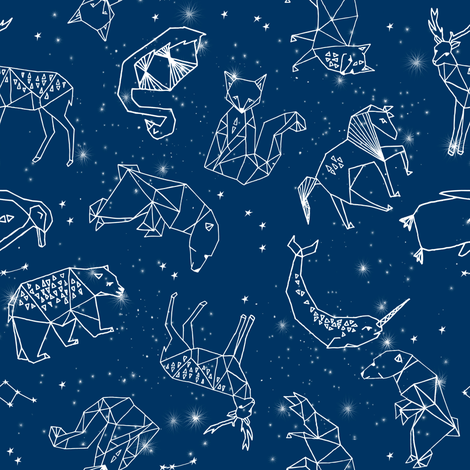 Fall Woodland Creatures Wallpaper Constellations Geometric Constellations Animals Stars