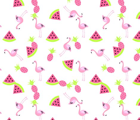 Fall Wallpaper Pintrest Flamingo Watermelon And Pineapple Wallpaper Yopixart