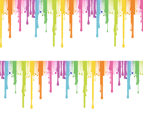Drops Rainbow 3d Wallpaper Rainbow Paint Drip Fabric Lanrete58 Spoonflower