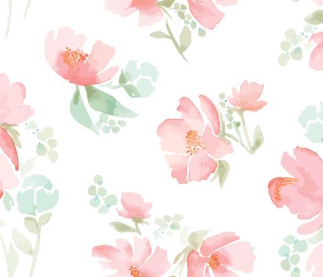 Baby Girl Nursery Wallpaper Borders Giant Watercolor Field Full Of Flowers For Wallpaper