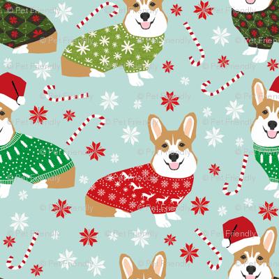 Cute Penguin Wallpaper Hd Corgi Sweaters Mini Smaller Fabric Christmas Fabric Ugly