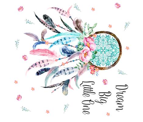 Pinterest Desktop Wallpaper Lotus Quote 36 Quot X36 Quot Pink Amp Aqua Dream Catcher With Quote Dream Big