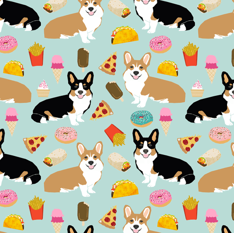 Cute Boston Terrier Wallpaper Corgi Junk Food Cute Pizza Tacos French Fries Dogs Funny