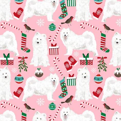 samoyed christmas fabric cute christmas xmas holiday design samoyed