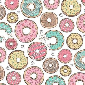 Cute Pink Snowman Wallpaper Donut Fabric Wallpaper Amp Gift Wrap Spoonflower