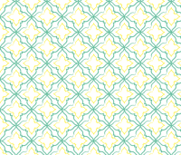 Alhambra Teal and Yellow Tile Pattern wallpaper - bees ...
