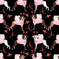 boxer love bug cupid costume dog breed fabric black fabric
