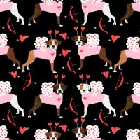 boxer love bug cupid costume dog breed fabric black fabric ...