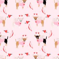 chihuahua love bug cupid costume dog breed pink fabric